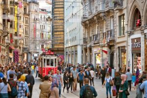 Taksim and Istiklal street in Istanbul